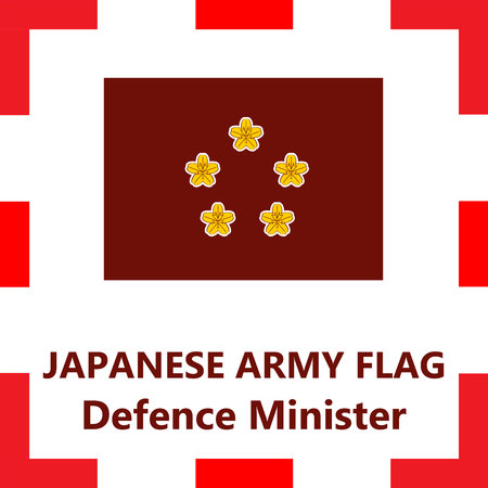 Japanese army flag - Defence minister Çizim