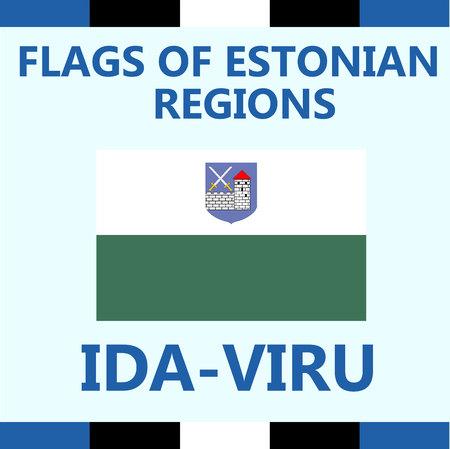 Flag of Estonian region Ida-Viru
