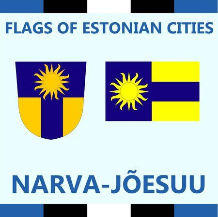 Flag of Estonian city Narva-Joesulu