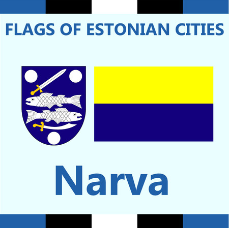 Flag of Estonian city Narva