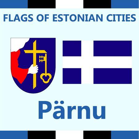 Flag of Estonian city Parnu