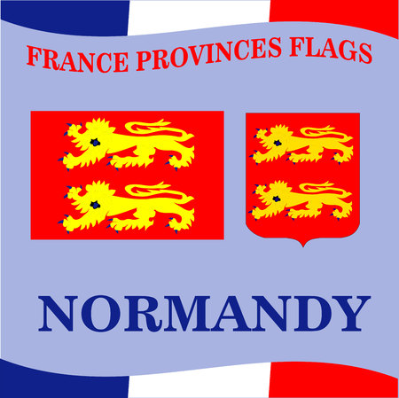 Flag of French province Normandy Illustration