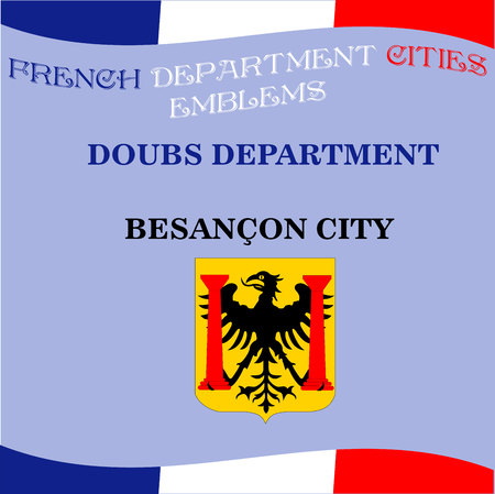 Official emblems of cities of French department Doubs