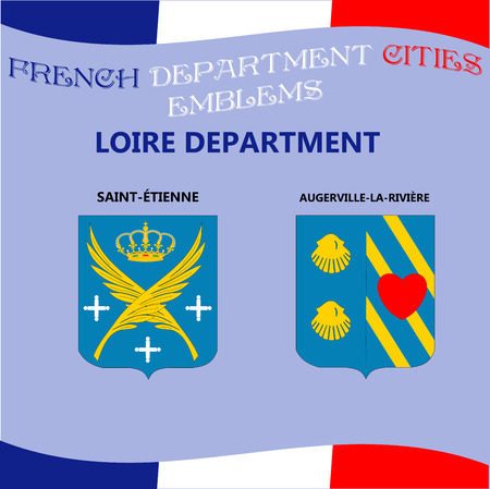Flags and emblems of French department of Loire