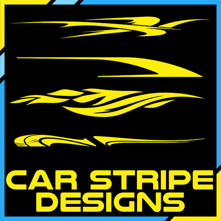 Tribal and cool Car stripe design set. Adhesive Vinyl stickers design for vehicles Illustration