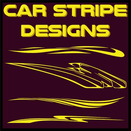 Tribal und cooles Autostreifen-Design-Set. Klebende Vinyl-Aufkleber Design für Fahrzeuge Vektorgrafik