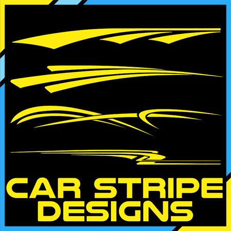 Tribal und cooles Autostreifen-Design-Set. Klebende Vinyl-Aufkleber Design für Fahrzeuge
