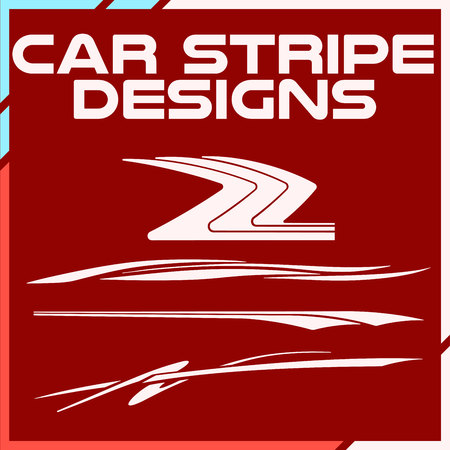 Tribal and cool Car stripe design set. Adhesive Vinyl stickers design for vehicles Иллюстрация
