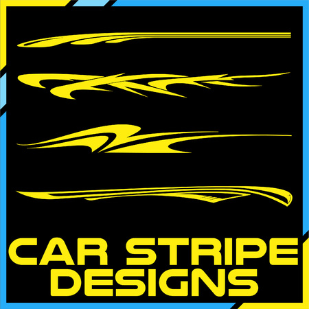 Tribal and cool Car stripe design set. Adhesive Vinyl stickers design for vehicles  イラスト・ベクター素材