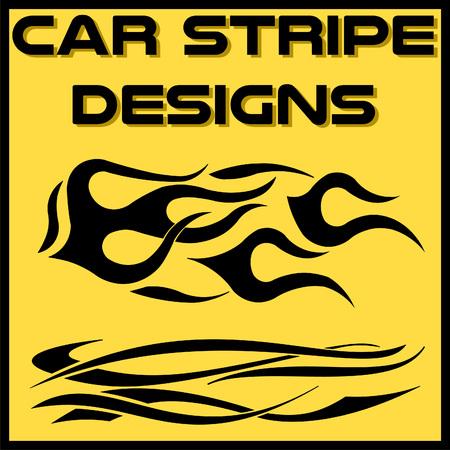 Tribal and cool Car stripe design set. Adhesive Vinyl stickers design for vehicles Иллюстрация