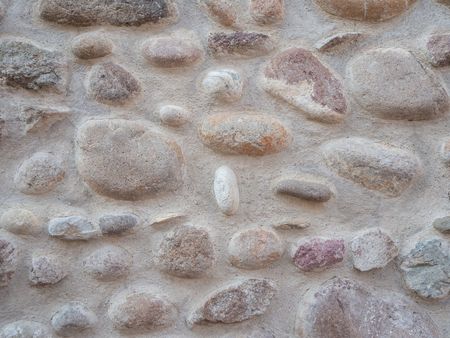 Wall with colored stones Imagens