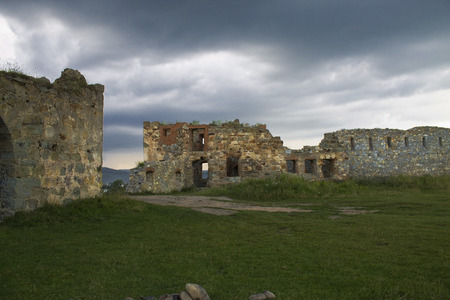 lock ruins in the Carpathians, Ukraine