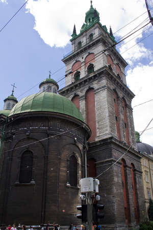 assumption: Orthodox Church of the Assumption in Lviv Stock Photo