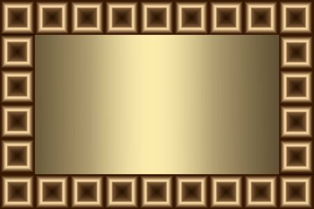 burgundy colour: frame golden color with a pattern of brown squares