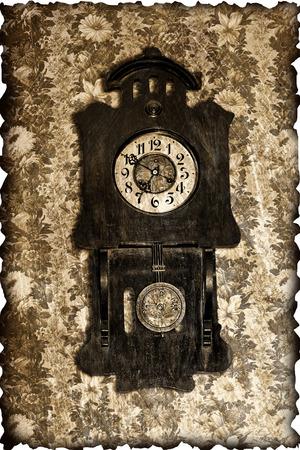 reloj de pendulo: reloj de p�ndulo de edad en estilo retro