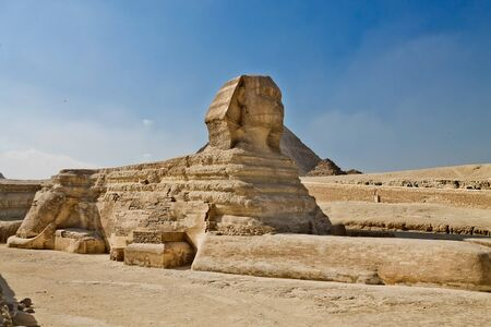 Statue of the Sphinx on the Giza plateau