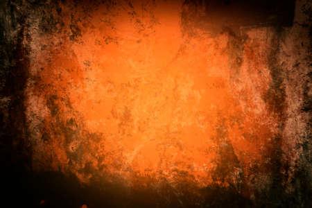 ferruginous: Grunge style in orange tones Stock Photo