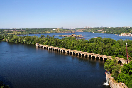 dnieper: Dnieper River and the islands in Zaporozhye dam