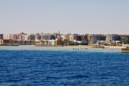 red sea: beaches of Hurghada on the Red Sea