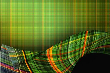 checkered background: green checkered background with wavy stripes Stock Photo