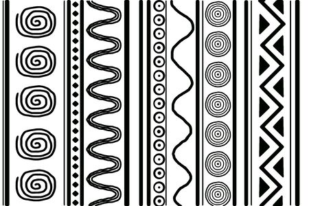 ethnic style: black-and-white pattern in ethnic style