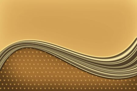 gold abstract: gold abstract background with wavy lines