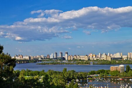 dnieper: view on Kiev from the banks of the Dnieper