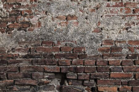 dilapidated: background old dilapidated brick wall closeup