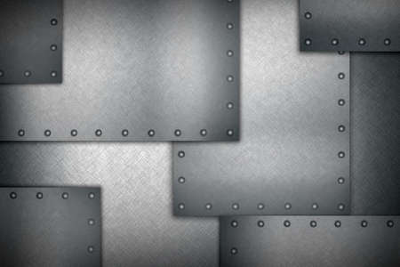 rivets: abstract background of several metal sheets with rivets