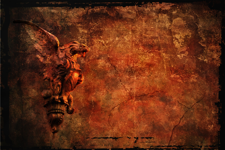 chimera: grunge background with copy-space and chimera