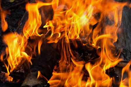 ignited: abstract background burning fire close up Stock Photo