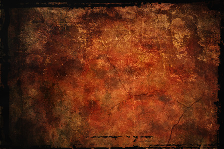 worn structure: reddish brown stylized background with grange texture Stock Photo