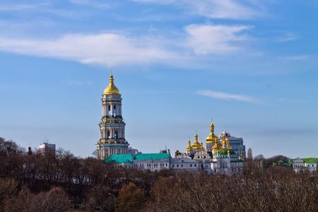 lavra: Kiev-Pechersk Lavra on the background of blue sky