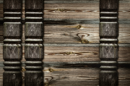 friezes: background of wooden planks with carved friezes Stock Photo