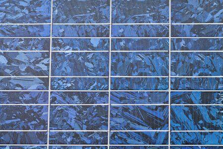 photocell: Blue solar panel closeup, modern technology