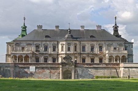 lvov: Podgoretskii castle facade in Ukraine, Lvov region