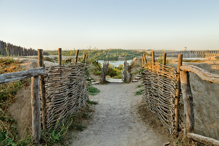 Cossack fortification on the territory of Zaporizhzhya Sich, Ukraine