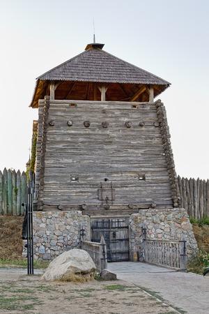 cossacks: entry tower in the Zaporizhzhya Sich, Ukraine