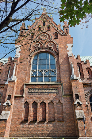 church of divine mother, constant help. Old Catholic Church in Krakow, Poland, Europe.