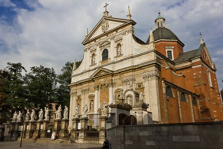 Church of Saints Peter and Paul in Cracow, Poland. Catholic church of the 17th century in Baroque style