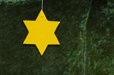 Detail of a star made of wood  photo