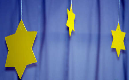 Detail of a stars made of wood  photo