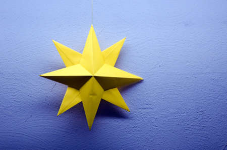 Detail of a star made of paper  photo