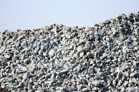 Detail of a pile of crushed rocks and gravel  Stock Photo