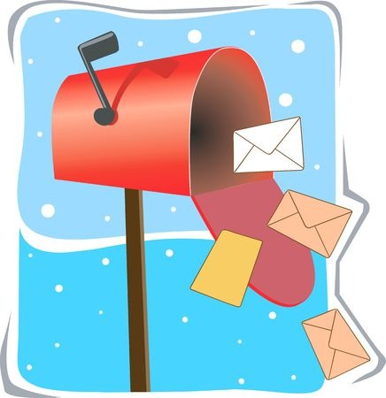 Illustration of a mailbox pouring letters  illustration