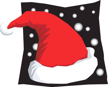 clauses: Illustration of a Santa clause�s hat in black background
