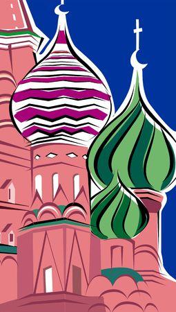 basil: Illustration of St. basil church, Moscow