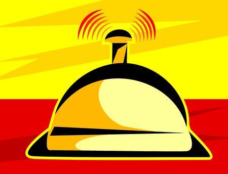 Illustration of a reception service bell  illustration