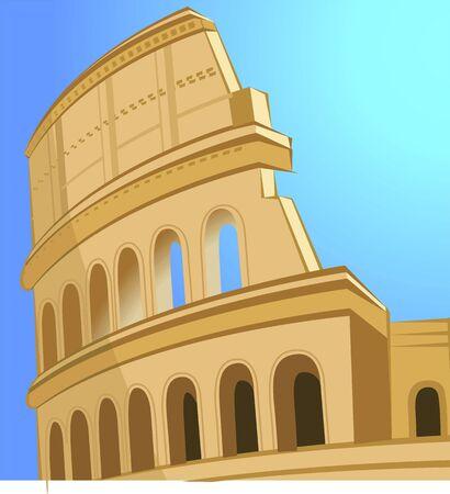 flavian: Illustration of ruin coliseum