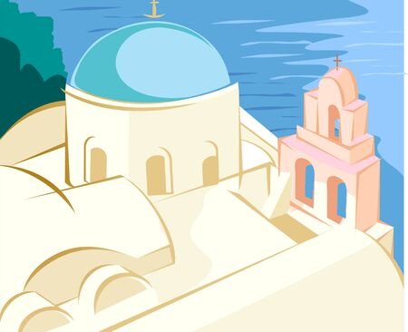 cupolas: Illustration of santhosini cathredal